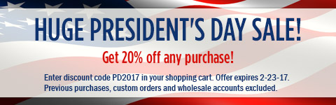 HUGE Pres Day Sale! 20% of all orders!