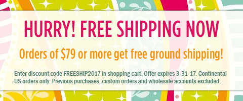 FREE SHIPPING $79+ with code FREESHIP2017