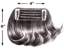 Hair B Tweenz 4x6 Human Hair Spot Filler