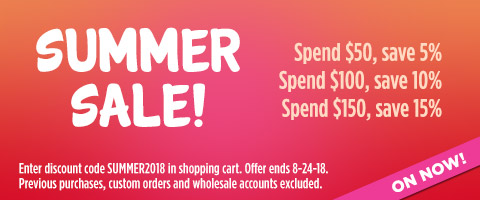 Spend more, save more! SUMMER SALE!